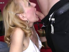 Grandmother gets banged by her toyboy