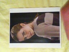 Emma Watson Ponytail Facial Cum Tribute