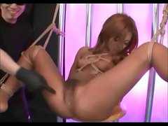 Tied Suspended And Toyed Shaggy Asian