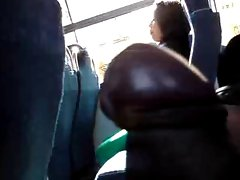 FLASHING Plump Young lady LOOK MY Pecker IN THE BUS