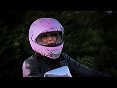 English motorbike vixen screws an Irishman part 1