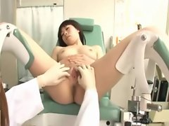 Shaven Seductive japanese Gynecologist And Her Patient
