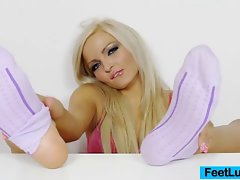 Lovely blond Nicky Angel sexual feet
