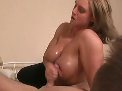 TitFuck Handjob Light-haired Aged