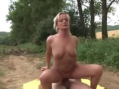 Mommy Spread her legs in the forrest