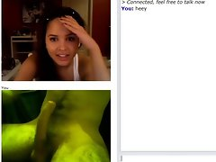 Excellent reaction from a chick on chatroulette