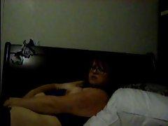 Alluring Plump Obese EX Girlfriend masturbating her Snatch on Webcam