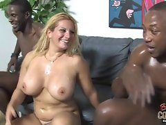 Chesty white stepmom Friday used by 2 blacks