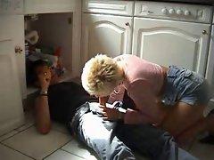 German mum seduce the repairman