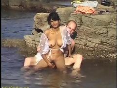 natural seductive indian hump in the ocean