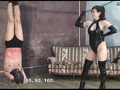 Sensual japanese Bondage & discipline Penalty of Upside Down Masochist Victim