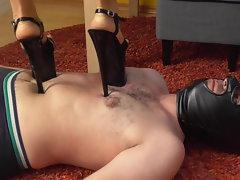 Female dom Ladies stomp gimps