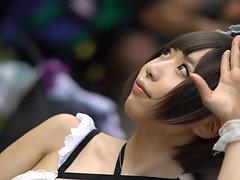 Kawaii & plane Seductive japanese costume play