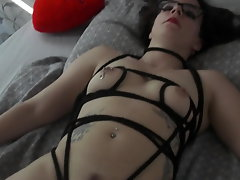 My 25yr experienced Sub Slut: Tied,Pegged & Made to Masturbate