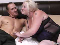 Terrific hook-up with blond-haired Cute bbw neighbor