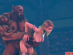 Jaina Proudmoor thumped brutal by extremely huge shaft orc