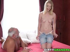 Grandpa bangs fresh nubile vagina
