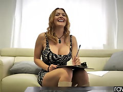 RawAttack - Krissy Lynn shagging a huge cock, interview