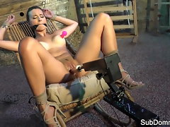Domination & submission cutie taunted and toyed by master