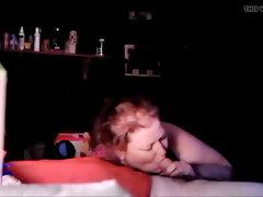 Plumper bum Chrissy gives me a deepthroat job