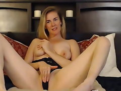 Crazy Blondie Ultra-cutie with Sexual Curves Fucks Herself
