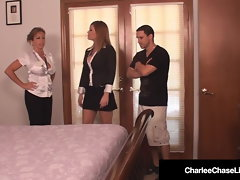 Cougar Charlee Chase & Hubby Fuck Amber Lynn Bach In 3Some!