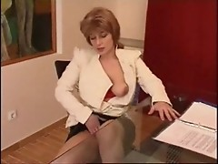 caught in her office