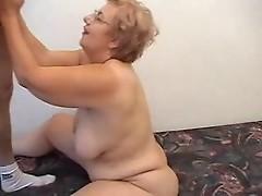 Fat Grandma Having Fun With A Male Prostitute