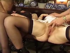British Amateur Matures Gangbang (anal)
