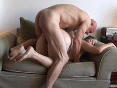 Hairy Pussy Mature Woman gets Dominated on the Bed