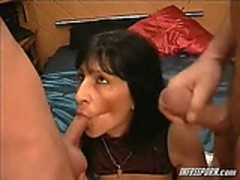 Mature Milf Oral Two Guys