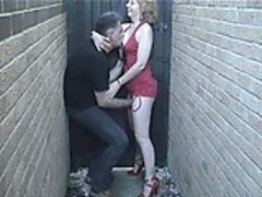 Redhead In Alley 01