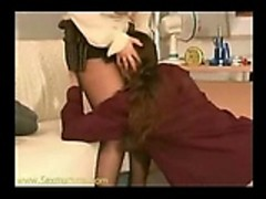 boss seducing repairman in the office