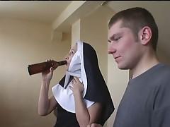 Nun Irina with two guys