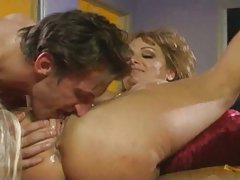 Mature lesbian and her lover eat stout prick
