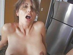 Hot milf in the kitchen