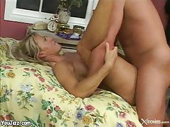 Hard cock and thick cum for horny mature