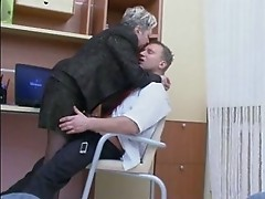 Granny Fucks the Office Boy