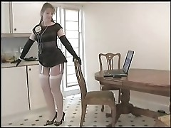 Mature Beauty - Stockings and Strip