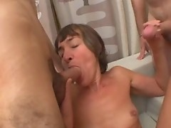 Marina, french mature gangbanged