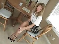 Brandi high heel & pantyhose tease