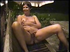 Watch my wife masturbating in court yard. Home made