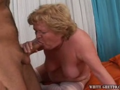 Busty granny Sophia C taking grandson's sweet young cock