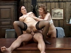 Mature and granny share a dick