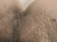 Hairy milf pussy and asshole closeup