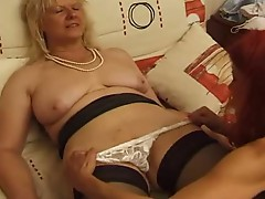 Two Milfs Play Cards and Men