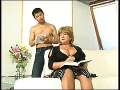 Chubby Busty Granny Gets What She Wants