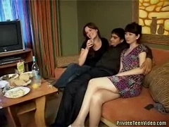 Teens dancing and getting ready for fun in a video