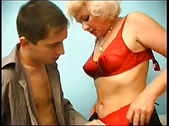 Russian mom ( Irina) seduces her young boy