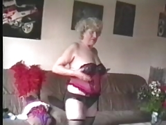Granny Fucks A Woman with Strap On